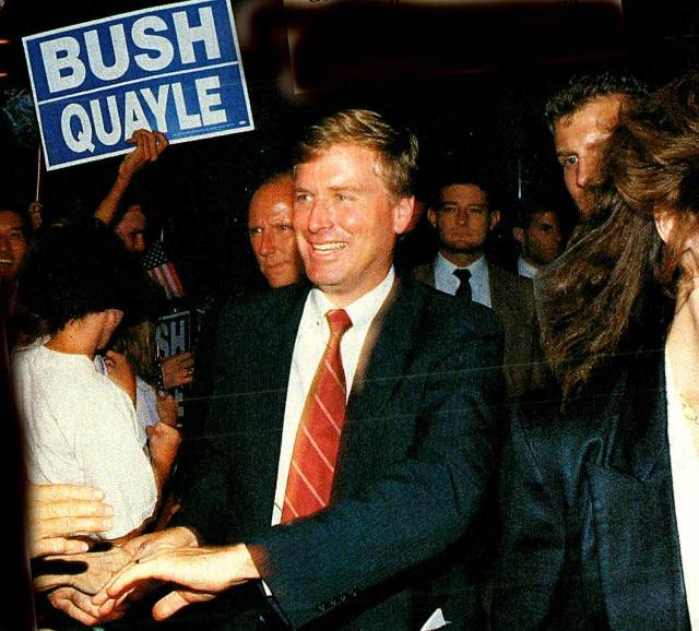 Dan Quayle - eyes rolled, all the way to the backs of most heads.