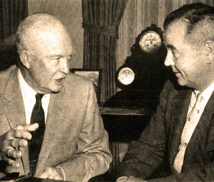 Pres. Eisenhower with Justice-designate William Brenner - a surprise to most.