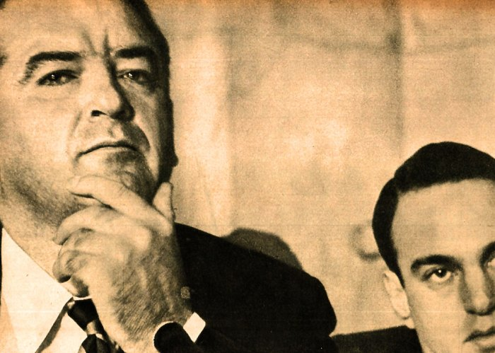 Sen. Joe McCarthy and Roy Cohn.  Government by inquisition.
