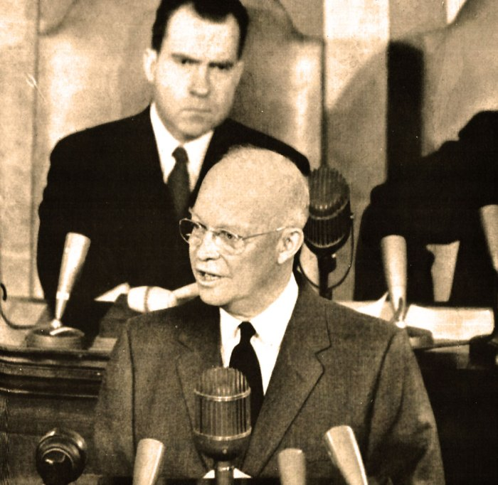 """President Eisenhower - he warned of a Military-Industrial Complex. They called him """"old Bubble-Head""""."""