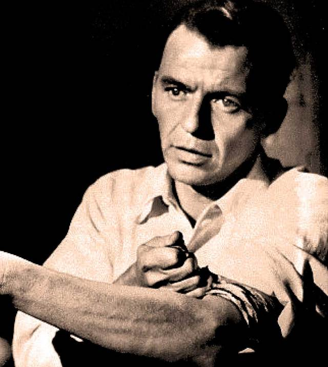 Frank Sinatra in The Man With The Golden Arm - To some, this represented a whole new low for Hollywood.