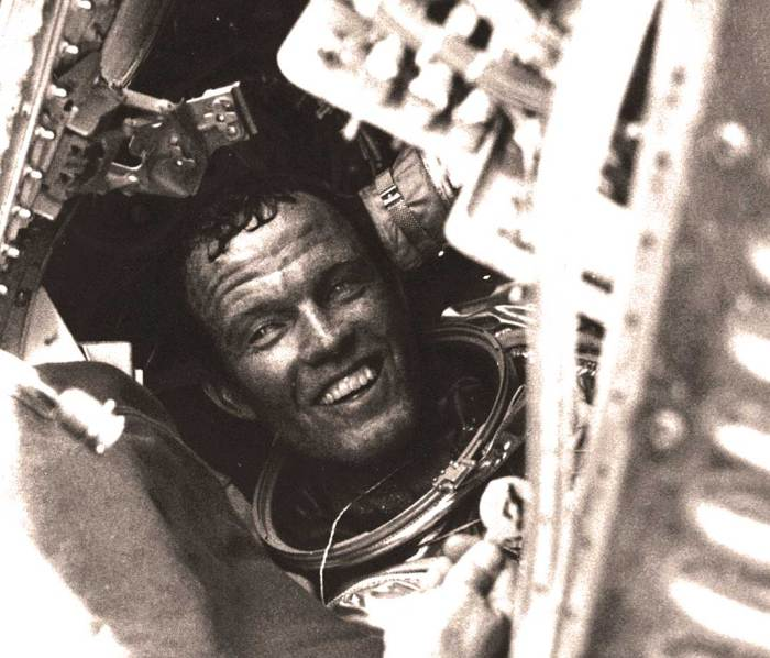 Maj. Gordon Cooper in Faith 7 -  the Space Race was becoming exciting.