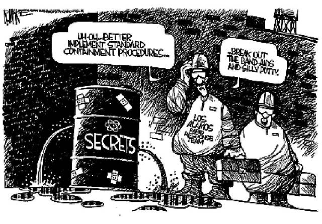 Apparently secrets weren't so secret.