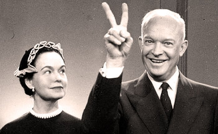 Ike with Health, Welfare And Education Secretary Oveta Culp Hobby. Health care was a problem, even in the 1950s.