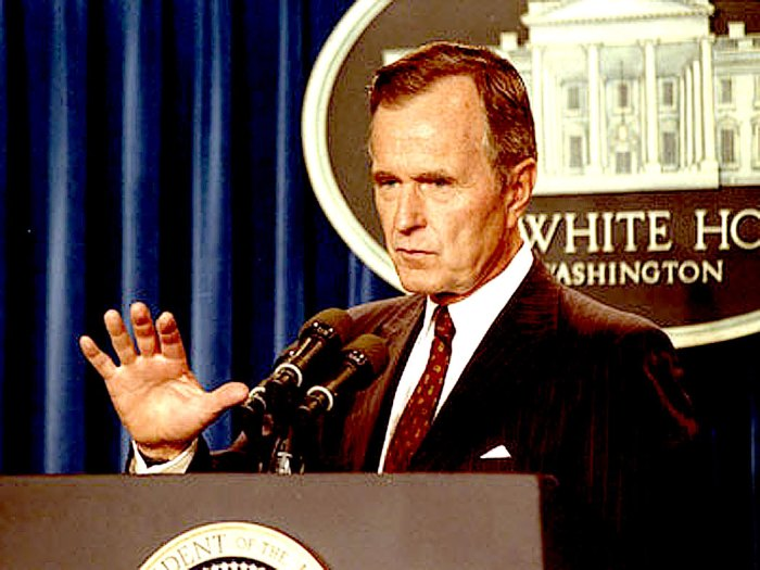 President Bush - proposing sweeping changes in light of more sweeping changes in Soviet Union.