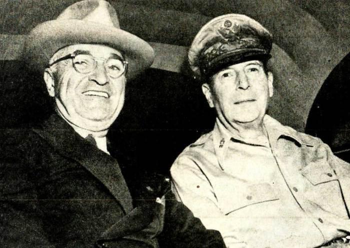 President Truman - Gen. Douglas MacArthur - on top of everything else; Korea.