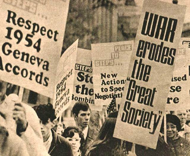 History is loaded with protest - it always has been.