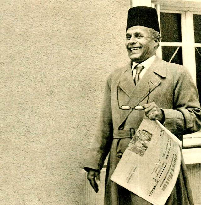 Habib Bouruiba - First President of an independent Tunisia - when Tunisia was French.