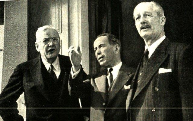 Dulles, Pinay and Macmillan - stretching the optimism.