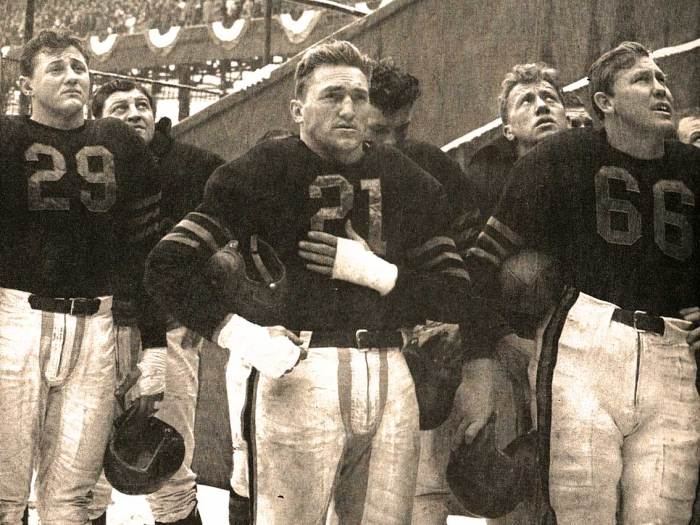 First Week of War - Chicago Bears and the National Anthem - public gatherings became reminders.