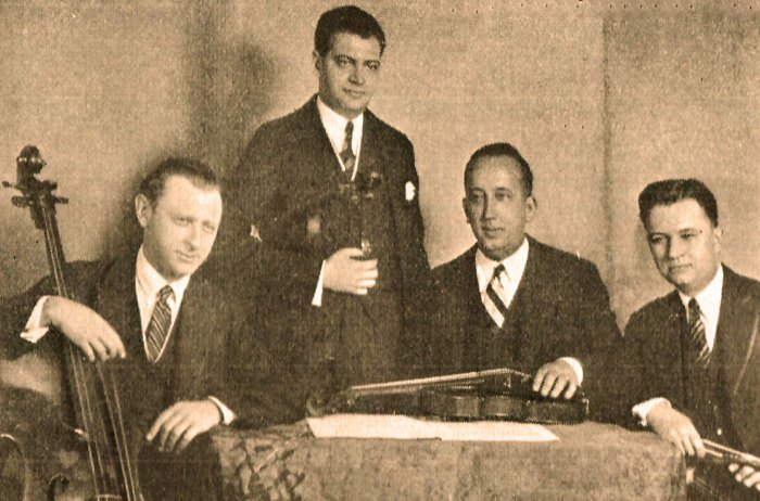 1936 Music Guild Awards - The Gordon String Quartet - champions of Contemporary Music.