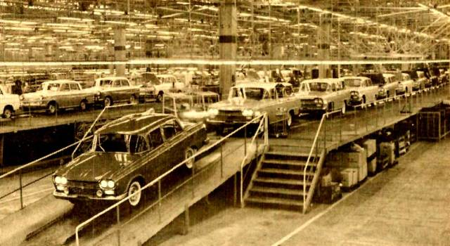 Toyotas on the Assembly line