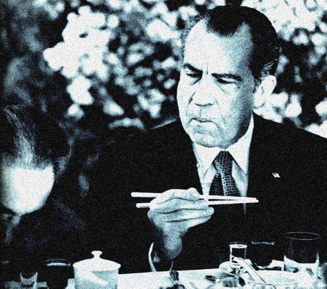 Nixon return to China 1976