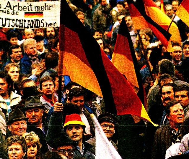 German Reunification rally