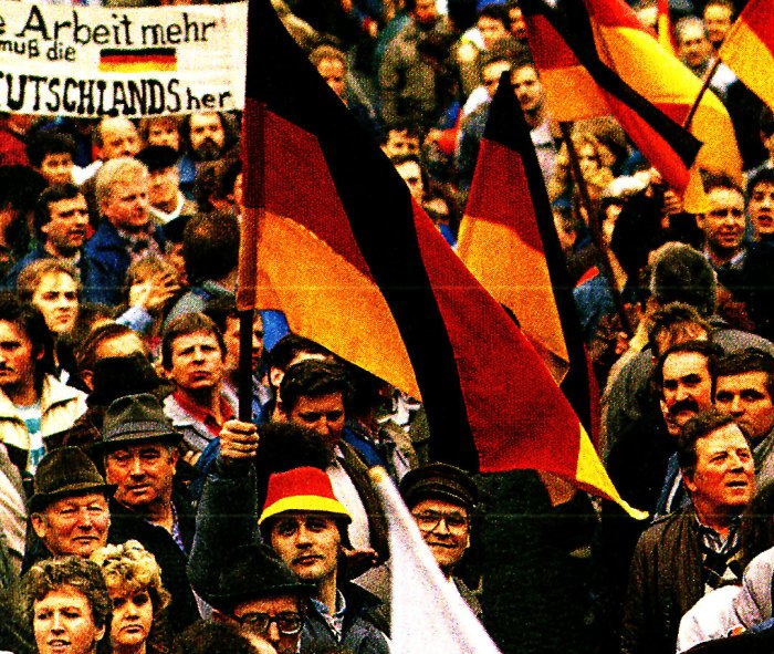 German Reunification rally