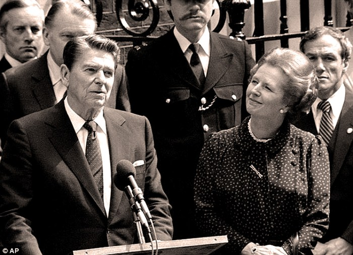 President Reagan visits London