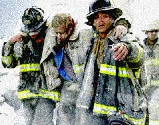 Firefighters rescued Sept. 13, 2001