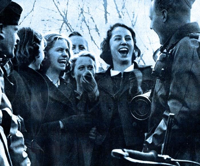 German Troops and civilians