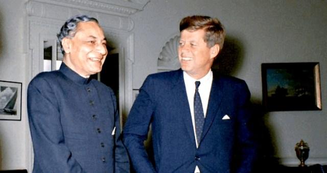 B.K. Nehru with President Kennedy - November 1962