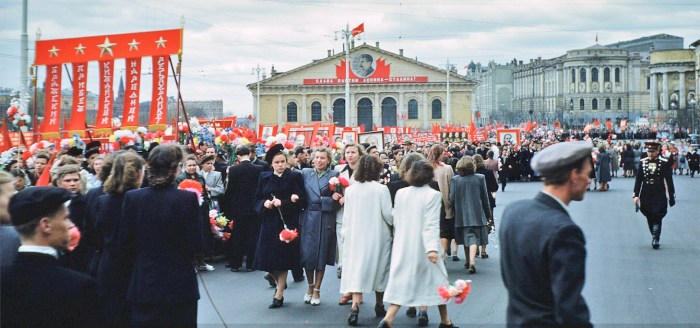 Moscow on a weekend - 1950s