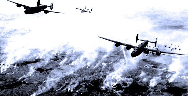 Allied Bombers Over Holland - 1944