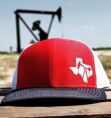 red white navy texas oilfield cap