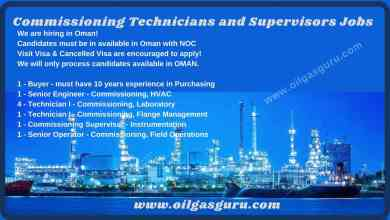 Commissioning Technicians and Supervisors Jobs Oman