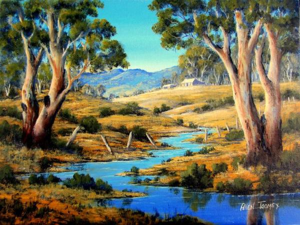 country living. 2 oil landscape