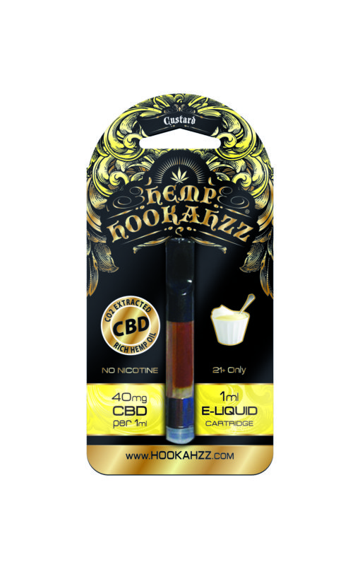 Hookahzz 40mg CBD Custard Front updated PRINT v14 01