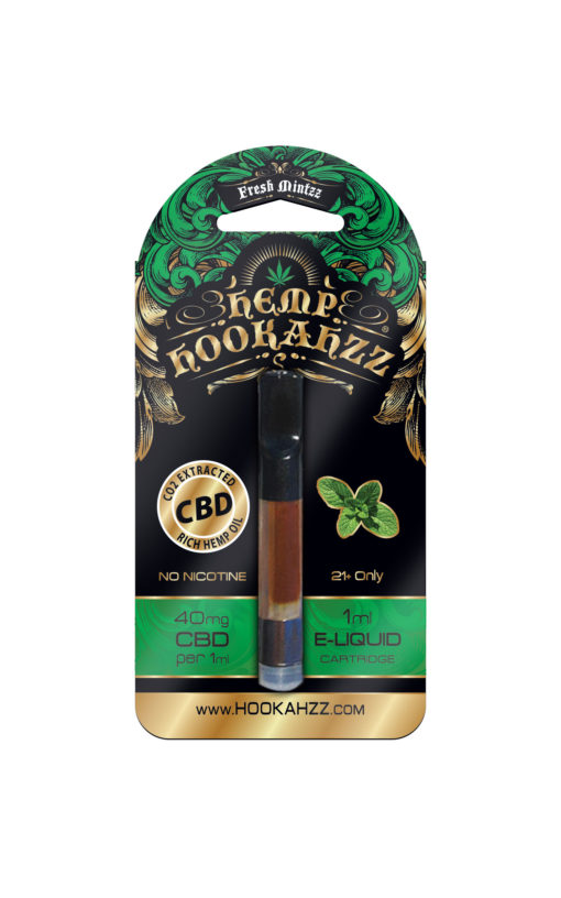 Hookahzz 40mg CBD Fresh Mintzz Front updated PRINT v14 01