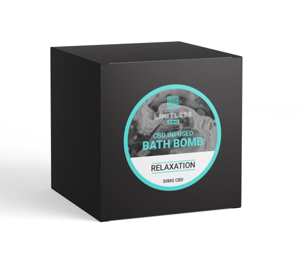 Limitless CBD Bath Bomb Box Relaxation Front View