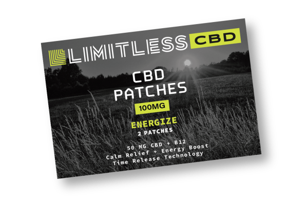 Limitless CBD Energize Patches Front View