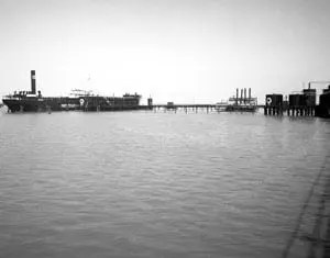 Offshore History: Texaco Tanker at their Lake Barre Terminal early 1950s