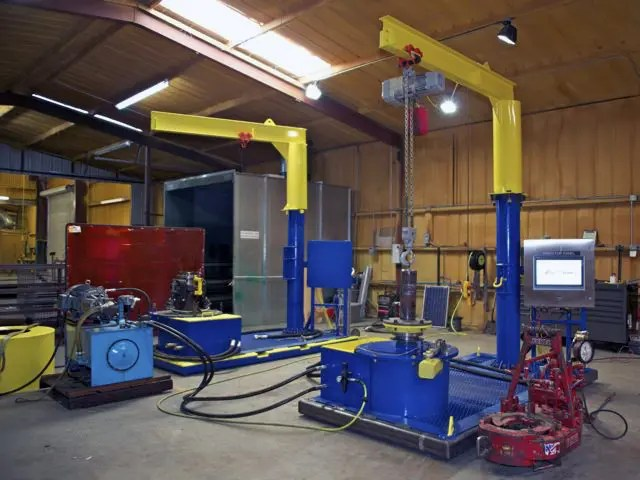 Electronic Tong Testing Stand Speeds Productivity