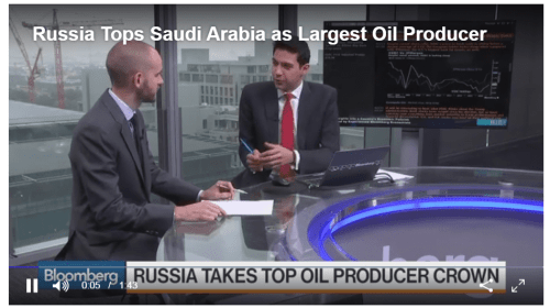 Russia Overtakes Saudi Arabia as World's Top Crude Oil Producer
