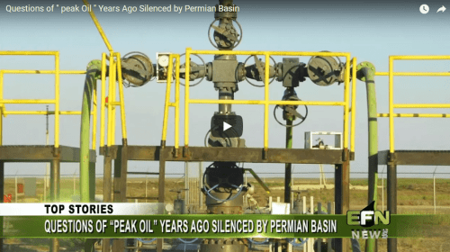 "Questions of ""Peak Oil"" Years Ago Silenced by Permian Basin"