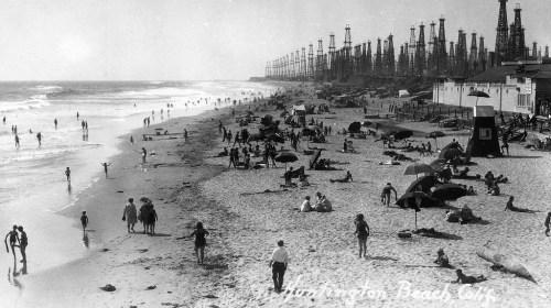 Oil Derricks, Huntington Beach, CA, 1940s