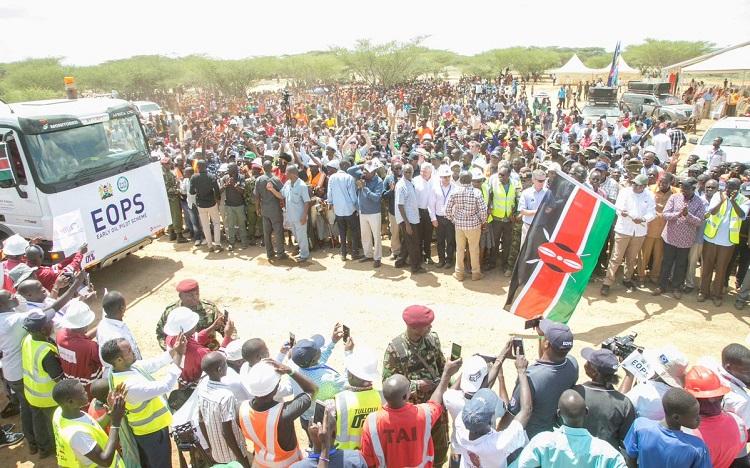 President Kenyatta Calls For Proper Management of Oil Income as Trucking Begins