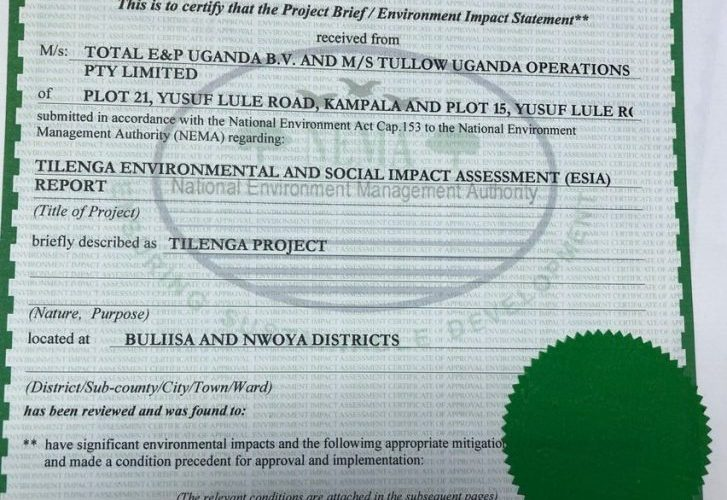 NEMA Approves Tilenga Project