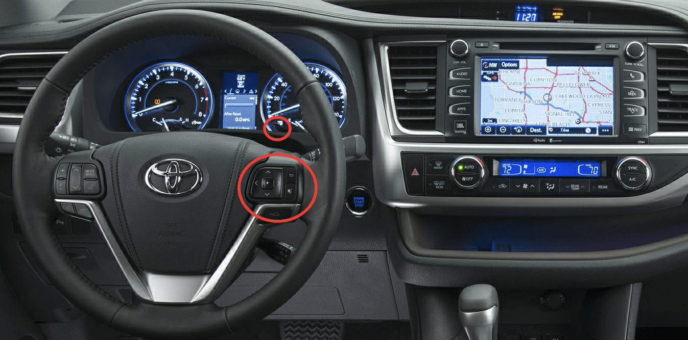 hight resolution of 2015 toyota highlander controls