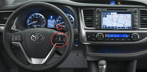 small resolution of 2015 toyota highlander controls