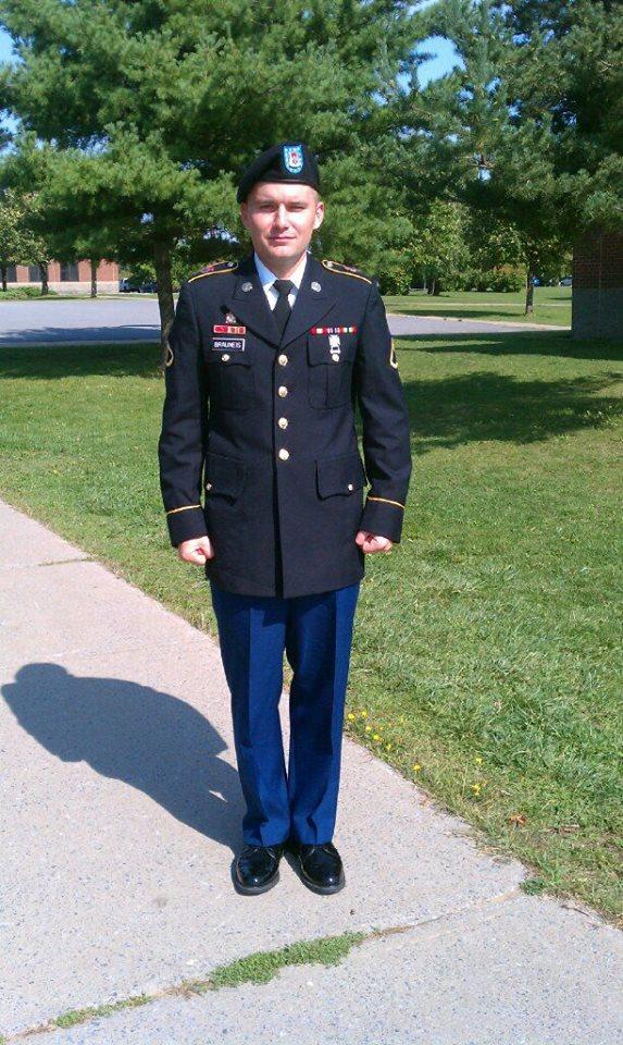 Army Specialist Albert, R Brauneis