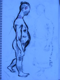 Walking pose for an earlier planned piece that led to the tapa.