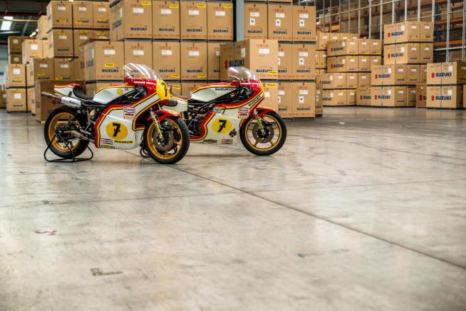 Barry Sheene's World Championship bikes from 1976 and 1977