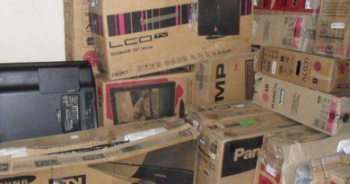 Mais de 300 televisores são apreendidos durante fiscalização no Pará
