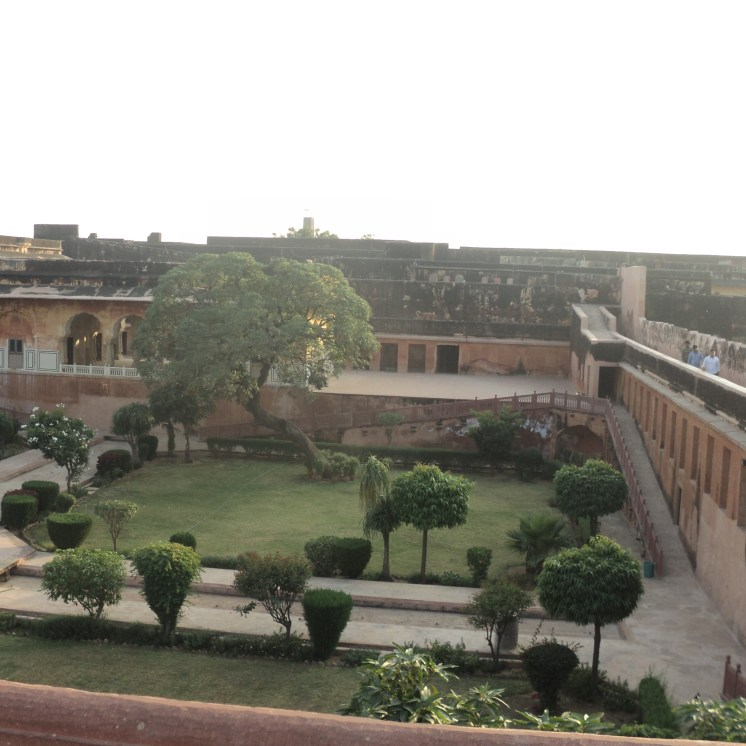One of the gardens at Jaigarh Fort