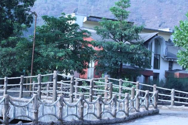 Our bungalow across the bridge