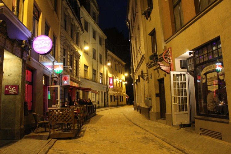 Dimly lit alleyways - perfect for romantic walks in the night