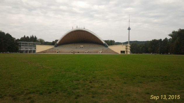 The amphitheatre inside Vingis Park