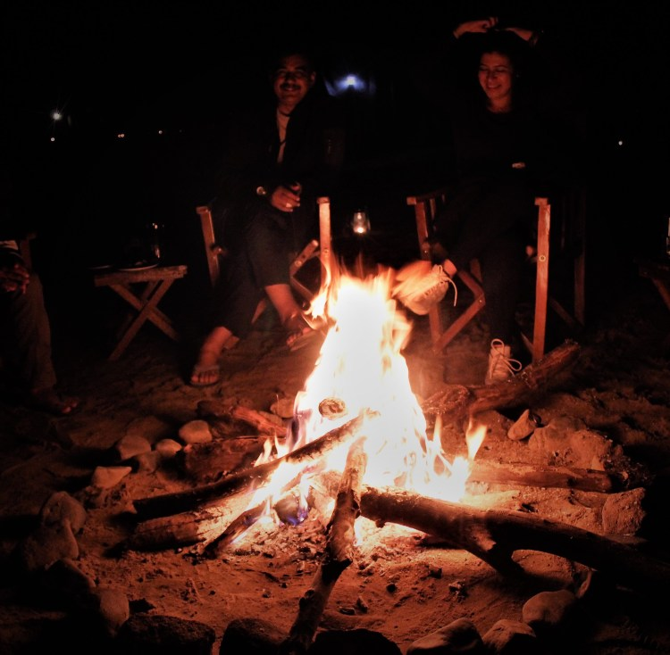 Camaraderie by the campfire